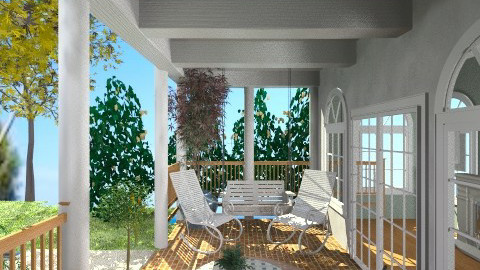 Cape cod patio - Garden  - by whodat1910