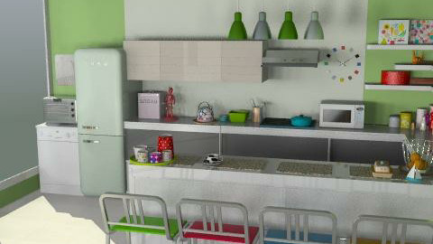 Colorful green - Modern - Kitchen  - by LarisaS