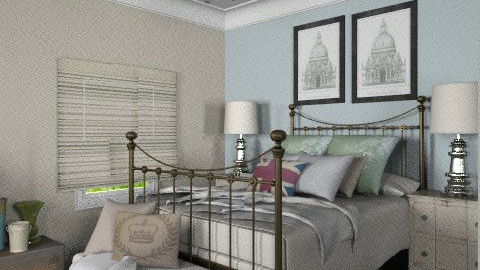 Bedroom Angle - Vintage - Bedroom  - by PerfectTime