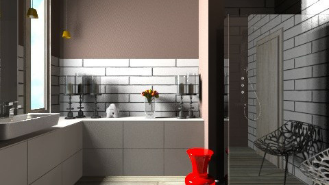Brick and Plank Shower - Modern - Bathroom  - by 3rdfloor