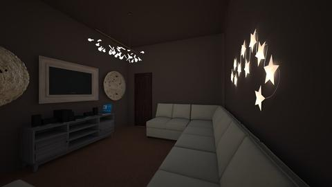 Neutral Brown - Minimal - Living room  - by strongsteadfast
