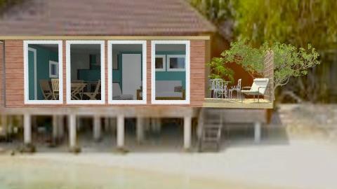 The Little Hut on the Beach - Rustic - Garden  - by Bibiche