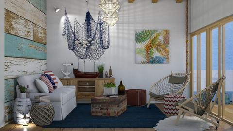 Beach House  - Classic - Living room  - by annatyler08