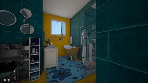 yellow turquoise - Modern - Bathroom - by Irishrose58