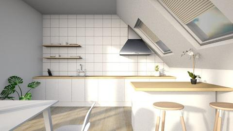 Minimal attic kitchen - Minimal - Kitchen  - by l i a