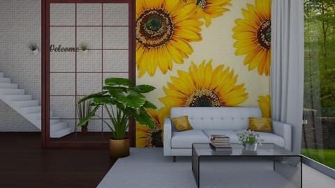 sunflower living room - Living room  - by Cool Coder Girl