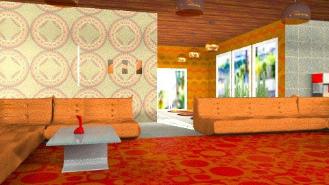 1960's Santa Barbara - Retro - Living room  - by kitty