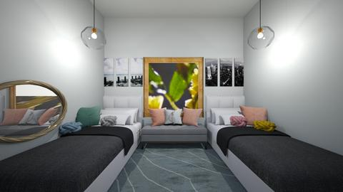 Dorm Room - Bedroom  - by jordynclark