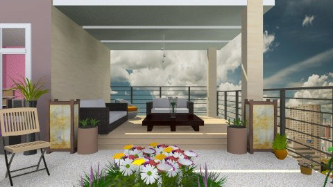 flowery top balcony - Modern - Garden  - by Veny Mully