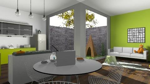 Green Kitchen - Minimal - Kitchen  - by GinaG3