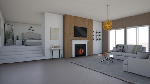 livingroom with bedroom - Modern - Living room  - by funnytoni