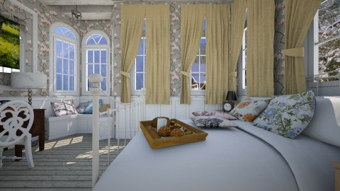 Grey Wooden Floors Bd - Country - Bedroom  - by christoforos