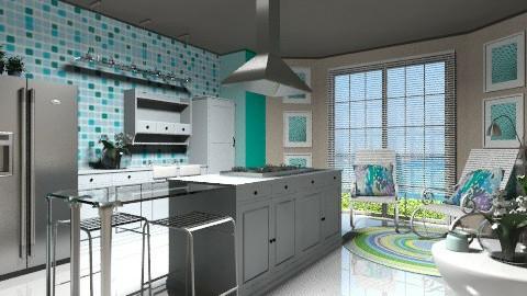 Kitchen on the beach - Modern - Kitchen  - by Giuiulai