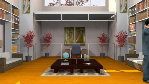 Library - Modern - Office  - by deepthinker
