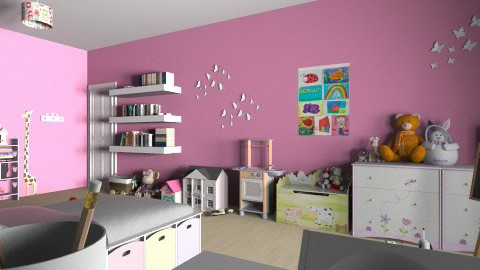 cameretta bimba - Kids room  - by Nufra
