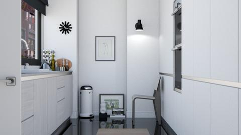 Modern Duo Tone Kitchen - Modern - Kitchen  - by HenkRetro1960