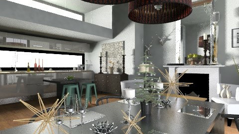 Stylish Christmas - Glamour - Dining room  - by camilla_saurus