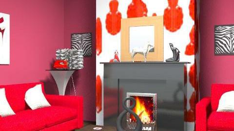 red room - Feminine - Living room - by sammy G