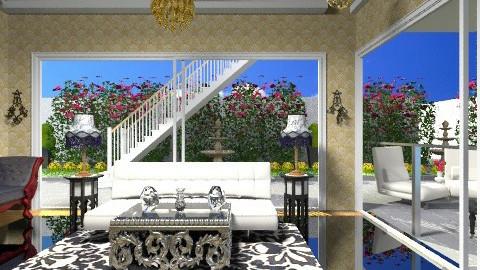 Serene Living Room - Glamour - Living room  - by wiljun