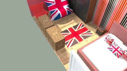 union jack  - Retro - Bedroom  - by peely95