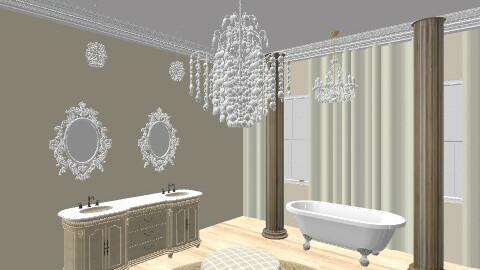 bath purple - Glamour - Bathroom  - by southernstyling