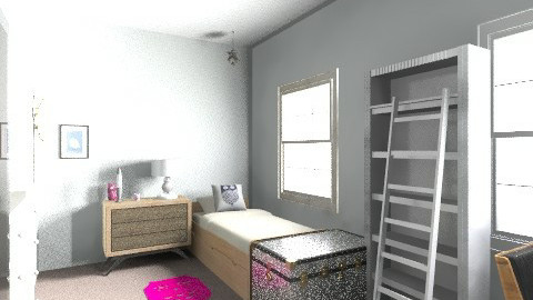 Modern teenage bedroom - Modern - Kids room  - by sassleberry