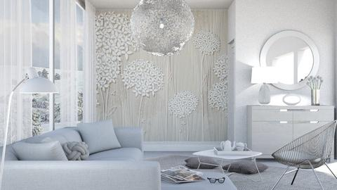 M_Flower wallpaper - Living room  - by milyca8