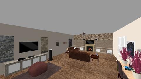 Chris 1B - Rustic - Living room  - by jrgray