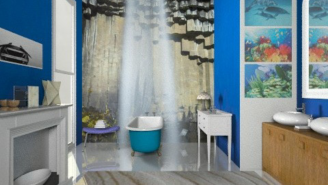 blue - Eclectic - Bathroom  - by mrschicken