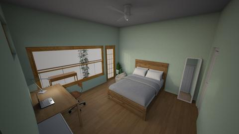 My Dream Room Daytime 2 - Minimal - Bedroom  - by Ameera Peachy Mint