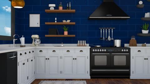 Blue Kitchen - Kitchen  - by switte94
