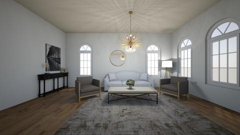 Symmetrical - Modern - Living room  - by kayleem927