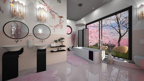 Cherry Blossom Bathroom - Bathroom  - by ZsuzsannaCs