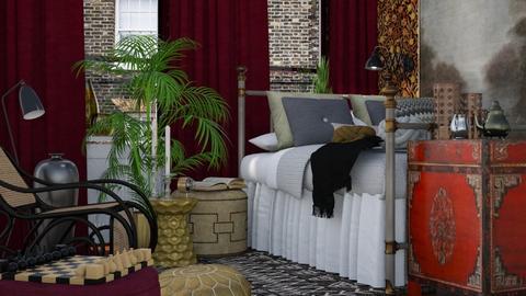 Boho Template - Rustic - Living room - by HenkRetro1960