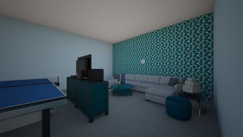 My blue living room - Living room  - by RuthIpu5