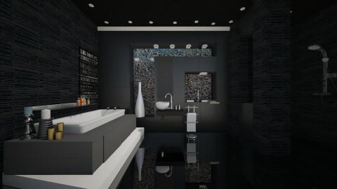 mercedes black - Modern - Bathroom  - by Evangeline_The_Unicorn
