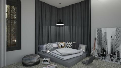 Gray World - Bedroom  - by DeborahArmelin