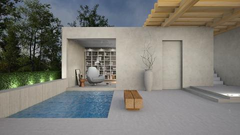 Concrete_wood - Minimal - Garden  - by Valkhan
