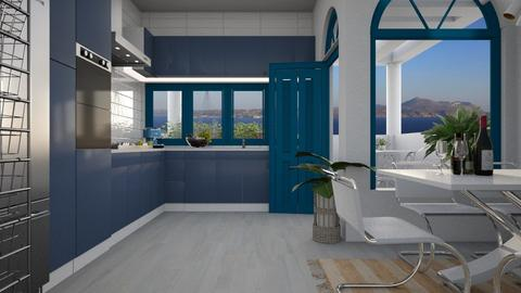greece kitchen  - by lais baptista