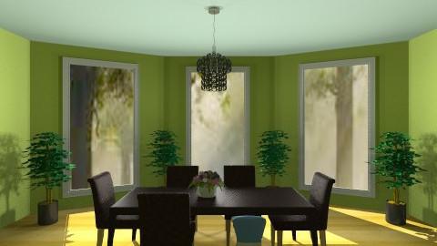 My Green Kitchen - Modern - Kitchen  - by Jenny_Gon_023