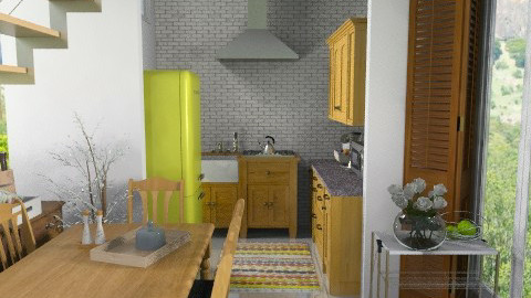 kitchen renovation - Rustic - Kitchen  - by sahfs