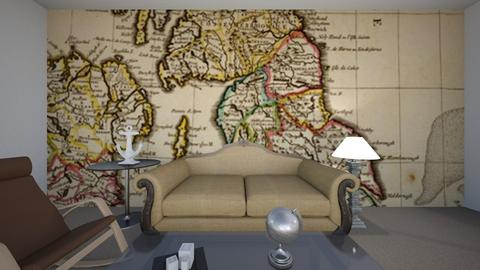 Geography living room - Living room  - by Hali Lieser