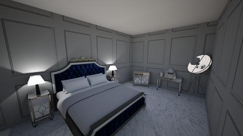 blue silver bed iJH - Bedroom - by IJH