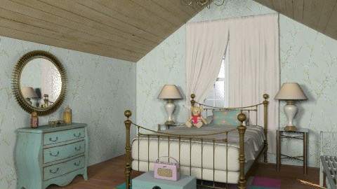 Grandma's little attic guest room - Country - Bedroom  - by alleypea