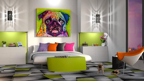 Playful Modern Bedroom - Bedroom  - by GraceKathryn