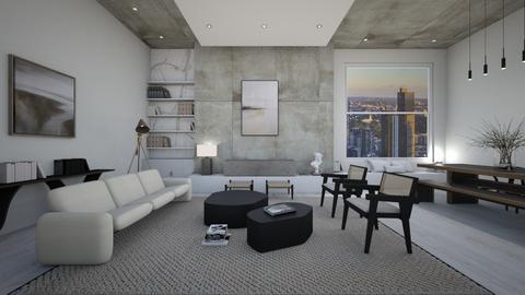 modern great room - Living room  - by erladisgudmunds