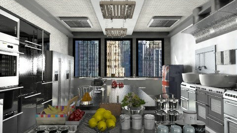 Cozinha Industrial - by Sanare Sousa