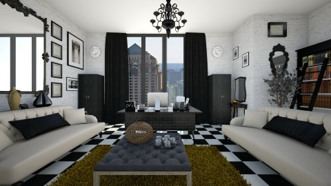 Checkered Chic - Glamour - Living room  - by CreativeCE