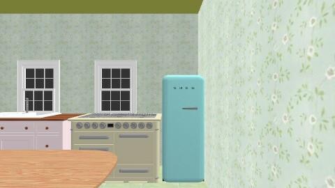 Design 5 - Retro - Living room  - by meg1994
