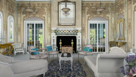Caroline Living Room - Classic - Living room  - by Bibiche